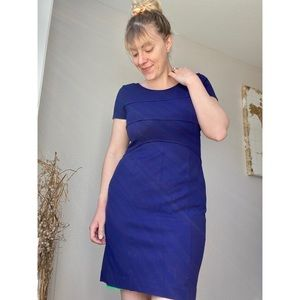 Marc New York Andrew Marc Blue Fitted Dress 8 EUC